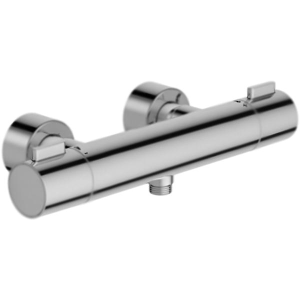 Cuff E37035-CP ХромСмесители<br><br>Настенный термостат для душа Jacob Delafon Cuff E37035-CP монтируемый в два отверстия.<br><br><br>Экономия воды и электроэнергии при оптимальной производительности.<br>Безопасность: предохранительный упор на 38 градусов.<br>Максимальная температура: 50 градусов.<br>Точный контроль: снижение колебаний температуры.<br>Поверхность: глянцевый хром.<br>Корпус: высококачественная латунь.<br>Механизм: термостатический расширяющийся картридж C3.<br>Расстояние между центрами креплений: 15+/-1,5 см.<br>Стандарт подключения: G 1/2.<br><br><br>В комплекте поставки:<br>смеситель;<br>комплект креплений.<br><br>