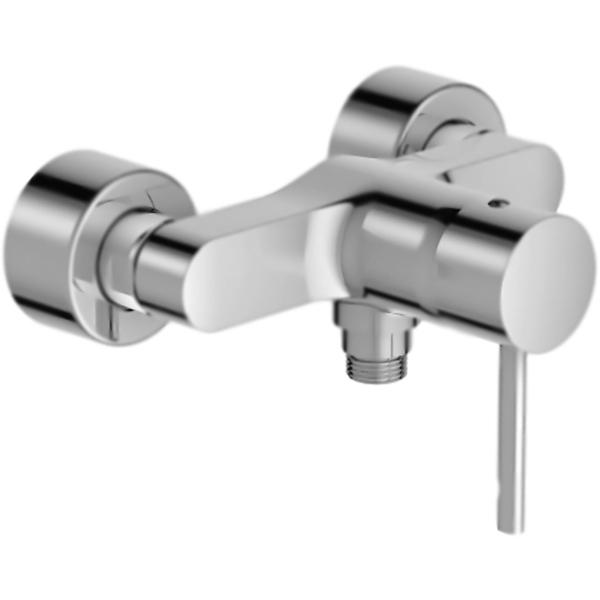 Cuff E45533-CP ХромСмесители<br><br>Настенный смеситель для душа Jacob Delafon Cuff E45533-CP однорычажный, монтируемый в два отверстия.<br><br><br>Экономия: ограничитель напора воды.<br>Расход воды: 14 л/мин при давлении 3 бар.<br><br>Точный контроль: снижение колебаний температуры.<br>Поверхность: глянцевый хром.<br>Корпус: высококачественная латунь.<br>Механизм: керамический картридж.<br>Расстояние между центрами креплений: 15+/-1,5 см.<br>Стандарт подключения: G 1/2.<br><br><br>В комплекте поставки:<br>смеситель;<br>комплект креплений.<br><br>