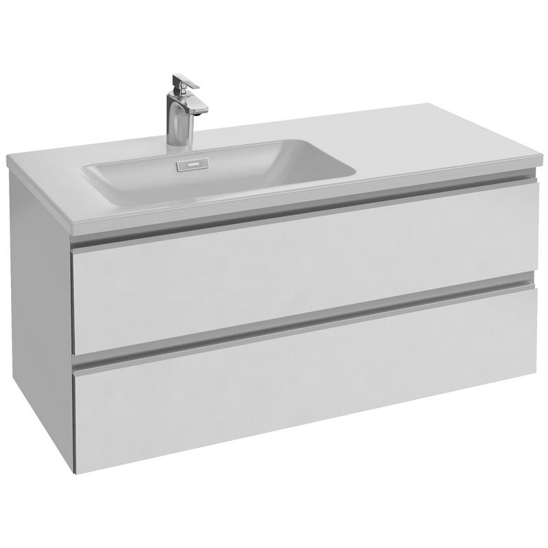 Vox 100 подвесная L Серый антрацит лакМебель для ванной<br>Тумба под раковину Jacob Delafon Vox 100 EB2025-RA-442подвесная.<br>Дизайн: современный стиль, стильный и практичный отлично впишется в ванную комнату.<br>Технические характеристики:  <br> Габариты тумбы: 100 x 45,2 x 46 см,<br> форма: прямоугольная,<br>материал : ДСП/МДФ,<br>покрытие корпуса: лак,<br> цвет: серый антрацит лак,<br>фурнитура: хром, <br>ориентация: левая, <br>монтаж: подвесной,<br>оснащение: крепления, механизм доводчика,<br>тумба с 2 выдвижными ящиками.<br>В комплекте поставки: тумба для ванной. <br>Мебель не боится влажности и устойчива к бытовой химии.<br>