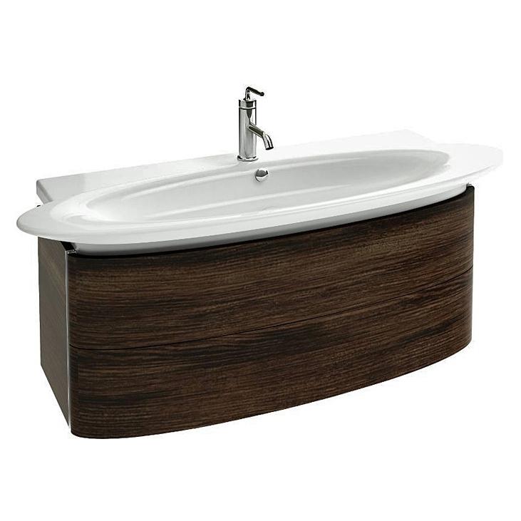 Presquile 83 подвесная 2 ящика Палисандр шпонМебель для ванной<br>Подвесная тумба под раковину Jacob Delafon Presquile 83 EB1104-V13.<br><br><br>Тумба коллекции Presquile выполнена в элегантном стиле с преобладанием мягких округлых линий. Она сочетает в себе лаконичность и функциональность. Мебель этой серии отлично впишется в интерьер ванной комнаты в современном дизайне.<br><br><br><br>Габариты изделия: 83x45,2x45 см.<br>2 выдвижных ящика с механизмом плавного закрытия.<br>Секции для хранения аксессуаров внутри ящиков.<br>Встроенные ручки.<br>Материал корпуса: влагостойкая ЛДСП.<br>Материал фасада: влагостойкая МДФ.<br>Монтаж настенный.<br><br><br>Объем поставки: тумба под умывальник, крепления.<br>