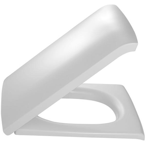 Stillness E6369-00 Белая МикролифтКомплектующие<br>Крышка-сиденье Jacob Delafon Stillness E6369-00 из термодюра белая с металлическими шарнирами. Крышка имеет сиденье с механизмом плавное опускание. <br>В составе комплектации крышка-сиденье.<br>