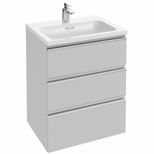 Vox 60 3 ящика прямые ручки Ореховое деревоМебель для ванной<br>Тумба под раковину Jacob Delafon Vox 60 EB2050-RA-E16 подвесная.<br>Дизайн: современный стиль, стильный и практичный отлично впишется в ванную комнату.<br>Технические характеристики:  <br> Габариты тумбы: 60 x 75 x 46 см,<br> форма: прямоугольная,<br>материал : ДСП/МДФ,<br>покрытие корпуса: лак или меламин,<br>цвет: ореховое дерево,<br>фурнитура: хром, <br>монтаж: подвесной или комбинированный,<br>оснащение: крепления, механизм доводчика,<br> тумба с 3 выдвижными ящиками с механизмом плавного закрывание,<br>ручки: 2 опции для монтажа ручек(встроенные или установленные на поверхности). <br>В комплекте поставки: тумба для ванной, комплект ножек. <br>Мебель не боится влажности и устойчива к бытовой химии.<br>