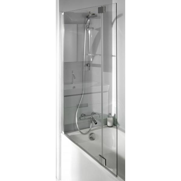 Bain Douche Neo 112 стекло прозрачноеДушевые ограждения<br>Шторка на ванну Jacob Delafon Bain Douche Neo 112 E4930-GA с универсальной ориентацией.<br>Двойная шторка с двумя распашными частями.<br>Алюминиевый профиль с покрытием цвета хром.<br>Первая панель складывается внутрь на 180 градусов, вторая - распахивается на 90 градусов внутрь и наружу.<br>Безопасное закаленное прозрачное стекло.<br>Толщина стекла: 8 мм.<br>Защита от известковых отложений.<br>Легкий уход: достаточно протереть поверхность шторки влажной тряпочкой.<br>В комплекте поставки: шторка на ванну.<br>
