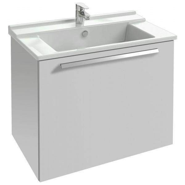 Struktura 77 подвесная 1 ящик Белый блестящийМебель для ванной<br>Подвесная тумба под раковину Jacob Delafon Struktura 77 EB1285-N18 с 1 выдвижным ящиком.<br><br><br>Тумба коллекции Struktura выполнена в строгом стиле с прямыми линиями и углами. Она сочетает в себе лаконичный дизайн и продуманную функциональность. Мебель этой серии отлично впишется в интерьер ванной комнаты в современном или хай-тек стиле.<br><br><br><br>Габариты изделия: 77x56x47 см.<br>1 выдвижной ящик с механизмом плавного закрытия.<br>Материал корпуса: влагостойкая ЛДСП.<br>Материал фасада: влагостойкая МДФ.<br>Монтаж настенный.<br><br><br>Объем поставки: тумба под умывальник, крепления.<br>