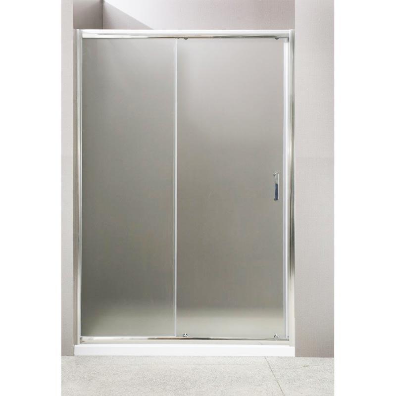 Uno 135x185 профиль Хром стекло рифленоеДушевые ограждения<br>Стеклянная душевая дверь Belbagno Uno UNO-BF-1-135-P-Cr 135x185 см имеет простой и в то же время элегантный дизайн и предназначена для обустройства душевой площадки в нише. Монтаж двери  возможен как на поддон, так и непосредственно на пол, оборудованный для душа.<br>Возможна регулировка ширины душевой двери за счет боковых профилей. Ширина двери с диапазоном регулировок - 1334-1360 мм. Конструкция двери гарантирует герметичность и рассчитана на 35000 циклов открывания.<br>Раздвижная душевая дверь Бельбаньо Уно имеет одну раздвижную створку, профиль выполнен из анодированного алюминия, стандарт DIN17611 2007, цвет хром. Полотно двери выполнено из рифленого закаленного стекла толщиной 5 мм и крепится на двойные подшипниковые ролики. Ручка выполнена из нержавеющей стали.<br><br>Состав комплектации: рифленое стекло толщиной 5 мм, профиль и детали двери из анодированного алюминия.<br>