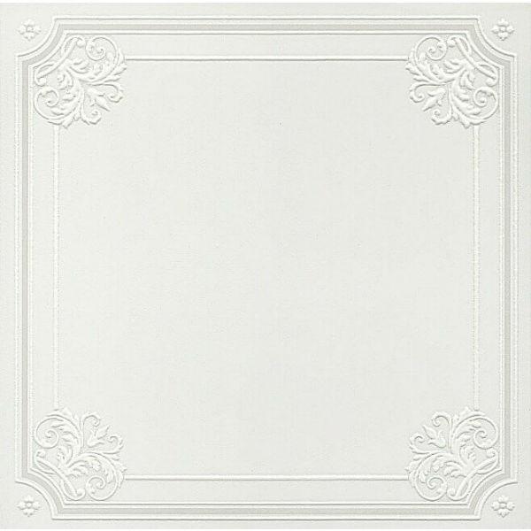 Керамический декор Kerama Marazzi Петергоф белый 40.2х40.2 см керамический декор kerama marazzi петергоф овал obc001 8 5х12 5 см
