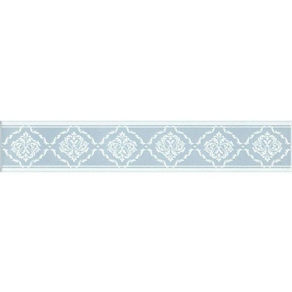 Керамический бордюр Kerama Marazzi Петергоф голубой 40,2х7,7 см керамический декор kerama marazzi петергоф овал obc001 8 5х12 5 см