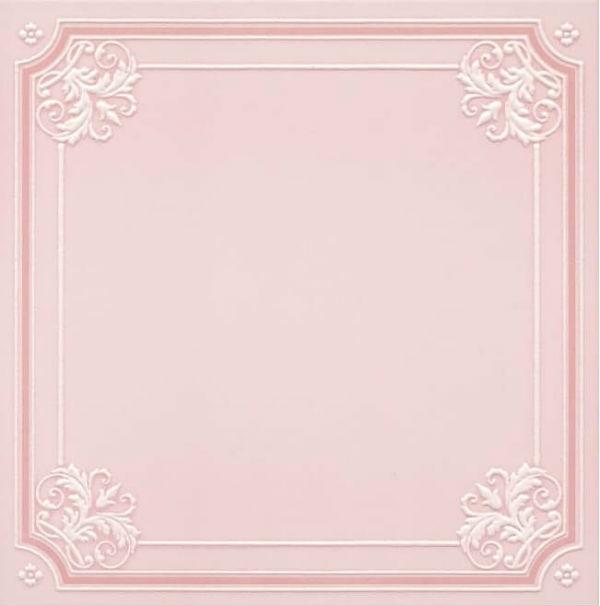 Керамический декор Kerama Marazzi Петергоф розовый 40.2х40.2 см керамический багет kerama marazzi каподимонте голубой blc004 5х30 см
