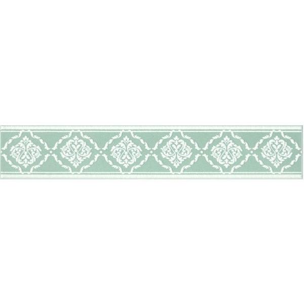Керамический бордюр Kerama Marazzi Петергоф зеленый 40.2х7.7 см керамический декор kerama marazzi петергоф овал obc001 8 5х12 5 см