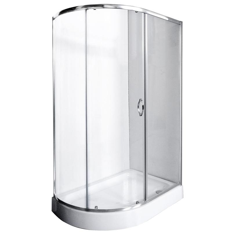 Душевой уголок Rush Fiji FI-A180120 L Хром стекла прозрачные