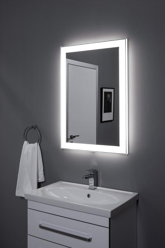Алассио 450х950 с Led-подсветкой С инфракрасным управлениемМебель для ванной<br>Зеркало Aquanet Алассио 450х950 с LED подсветкой, инфракрасный выключатель (196631).<br>Практичное изделие многофункционального назначения: это и классическое зеркало, и элемент освещения, и предмет декора.<br>Формы зеркала обладают четкостью форм, красиво подчеркнутых светодиодной подсветкой по периметру.<br>Что бы задействовать инфракрасный датчик, достаточно над ним провести рукой и зеркальное полотно озарится небесным голубым свечением.<br>Зеркало Акванет, будет гармонично смотреться при любом дизайне в любом интерьере.<br><br>