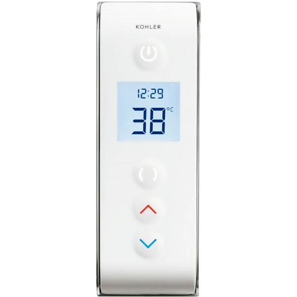 DTV Promt 527D-0 БелыйСмесители<br>Встраиваемый смеситель для ванны и душа Jacob Delafon DTV Promt 527D-0 с электронным интерфейсом, для двух потоков воды.<br>Конструкция:<br><br>Широкоэкранный ЖК-дисплей.<br>Простота в управлении.<br>Безопасность: точный контроль температуры.<br>Функции: включить/выключить/пауза/таймер, предварительный нагрев, контроль температуры.<br>Работа от сети.<br><br>В комплекте поставки:<br><br>внешняя часть смесителя;<br>комплект креплений.<br><br>
