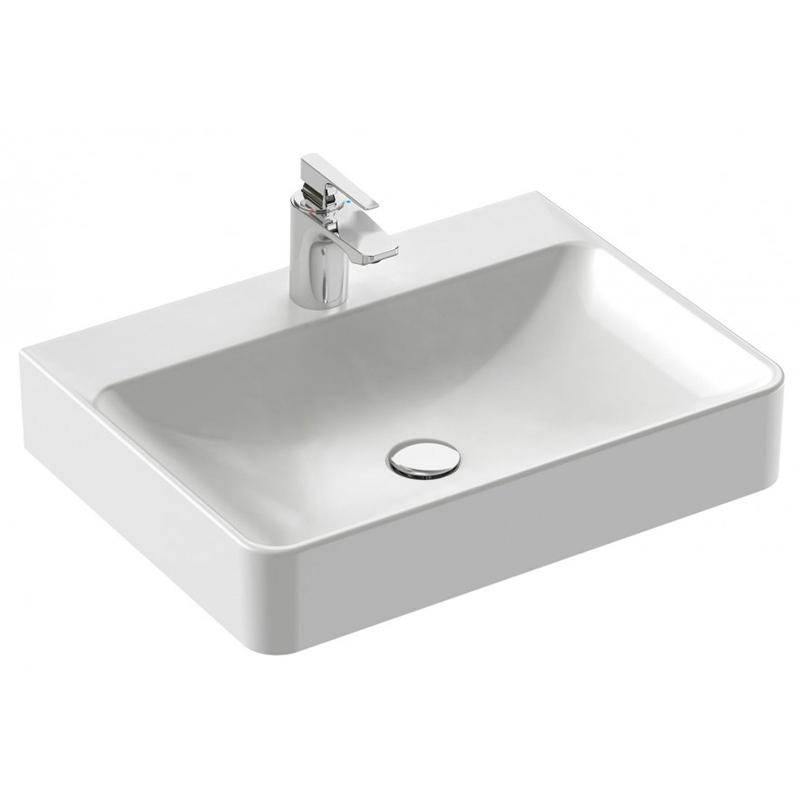 Vox 60 EVD012-00 БелаяРаковины<br>Раковина Jacob Delafon Vox 60 EVD012-00 прямоугольной формы, с одним отверстием под смеситель.<br>Обтекаемая форма и легкость в линиях безупречно впишутся в интерьер вашей ванной комнаты.<br>Раковина изготовлена из санфарфора - гладкого материала без пор. Он не впитывает грязь и долго сохраняет первоначальный цвет и блеск.<br>Отсутствие углов и покрытие глазурью с трех сторон облегчают уход.<br>Увеличенная глубина уменьшает вероятность разбрызгивания воды.<br>Размер: 60x45x13,5 см. Глубина: 9 см.<br>Цвет: белый.<br>В комплекте поставки: раковина, крепежи.<br>