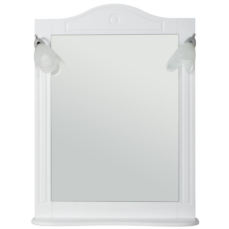 Зеркало Rush Devon 65 со светильниками Белое матовое DEM75065W