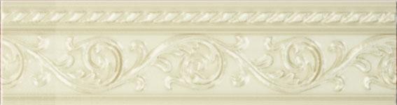 Керамический бордюр Carmen Caprichosa Moldura Yara Vanilla 4х15 см цена в Москве и Питере