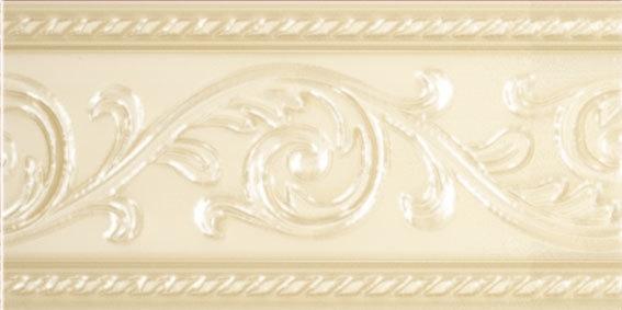 Керамический бордюр Carmen Caprichosa Cenefa Yara Crema 7,5х15 см цена в Москве и Питере