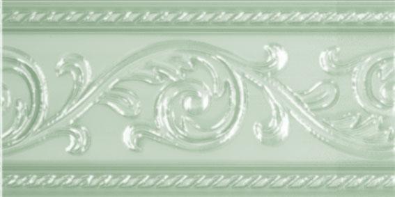 Керамический бордюр Carmen Caprichosa Cenefa Yara Verde Pastel 7,5х15 см цена в Москве и Питере
