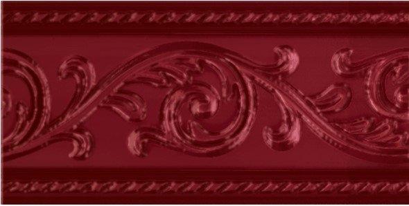 Керамический бордюр Carmen Caprichosa Cenefa Yara Burdeos 7,5х15 см цена в Москве и Питере