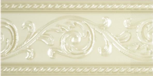 Керамический бордюр Carmen Caprichosa Cenefa Yara Vanilla 7,5х15 см цена в Москве и Питере