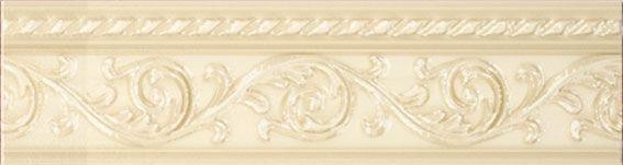 Керамический бордюр Carmen Caprichosa Moldura Yara Crema 4х15 см цена в Москве и Питере