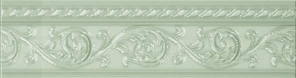 Керамический бордюр Carmen Caprichosa Moldura Yara Verde Pastel 4х15 см цена в Москве и Питере