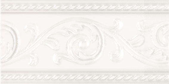 Керамический бордюр Carmen Caprichosa Cenefa Yara Blanco 7,5х15 см цена в Москве и Питере
