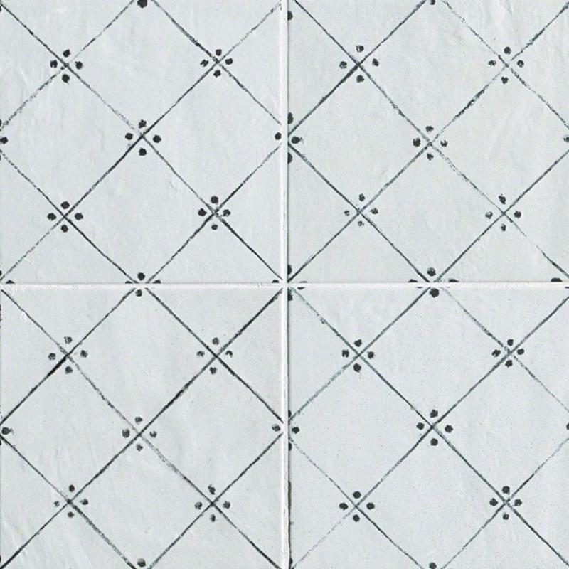 Керамическая плитка Fap Ceramiche Firenze Heritage Maiolica Bianca Deco Antracite настенная 20х20 см