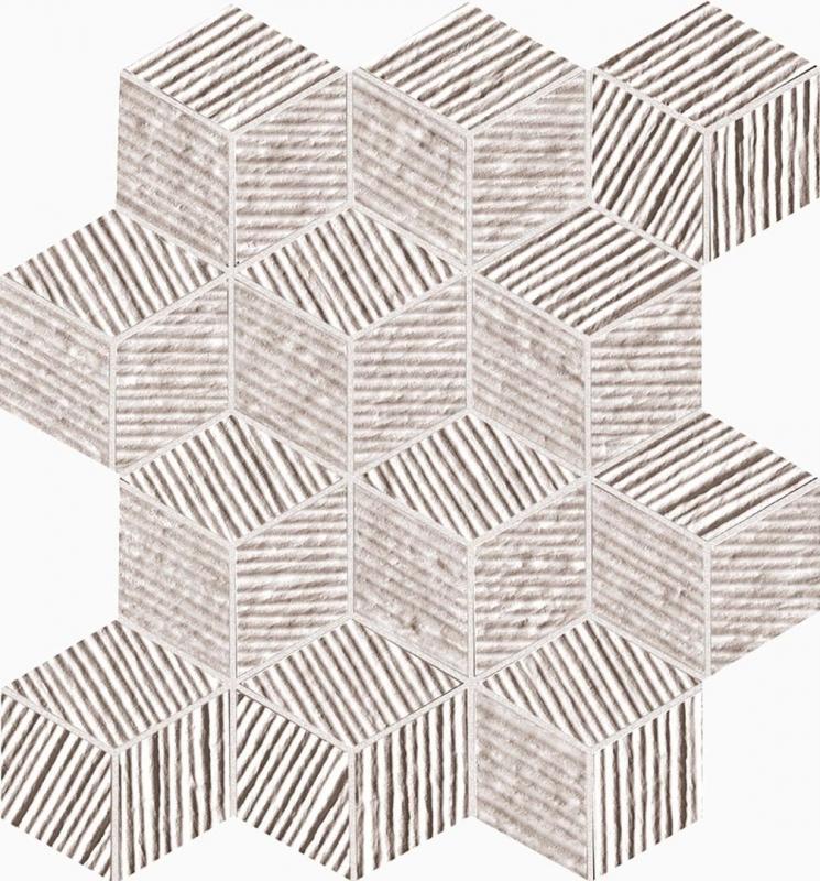 Фото - Керамическая мозаика Fap Ceramiche Lumina Glam Pearl Cube 22,5х26 см керамический бордюр fap ceramiche lumina glam caramel spigalo 1х30 5 см