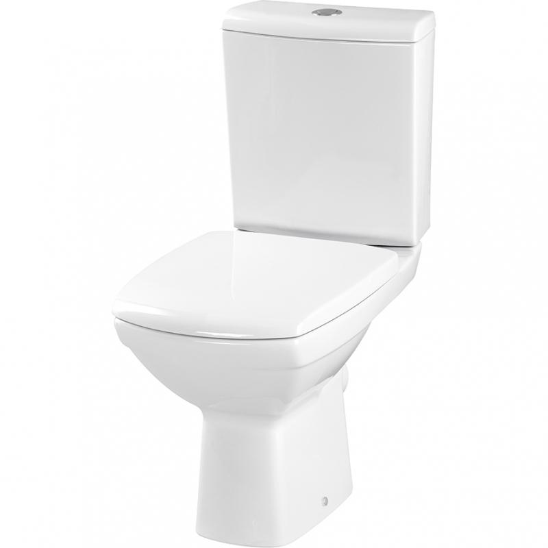 Унитаз Cersanit Carina New Clean On 011 KO-CAR011-3/5-COn-DL с сиденьем Микролифт напольный унитаз cersanit olimpia ol010 ol020