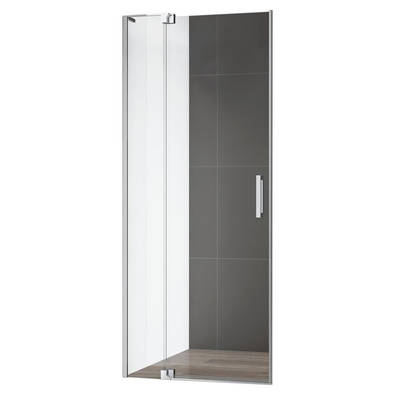 Душевая дверь в нишу Cezares Slider B1 80/90 Прозрачное стекло, профиль хром