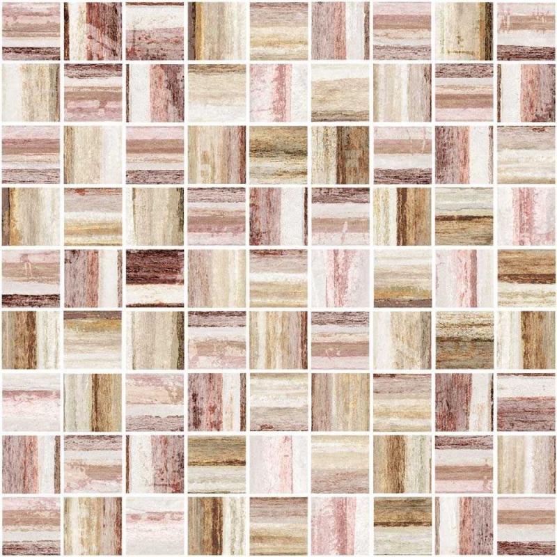 Alba Mosaic многоцветный AI2L451G 30х30 смКерамическая плитка<br>Мозаика Cersanit Alba Mosaic многоцветный AI2L451G 30х30 см глянцевая обладает пестрым принтом из полосок, словно они нарезаны из необыкновенной красоты камня со слоистой структурой. В упаковке 17 штук. Вес упаковки составляет 18,85 кг.<br>