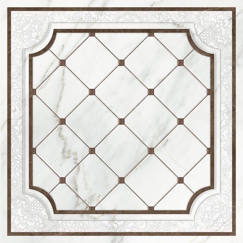 Керамическая вставка Cersanit Capella белая CP6R052DT 42х42 см цена и фото