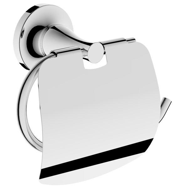 Держатель для туалетной бумаги Rush Corsica CO42111 с крышкой Хром держатель туалетной бумаги rush balearic с крышкой хром ba39111