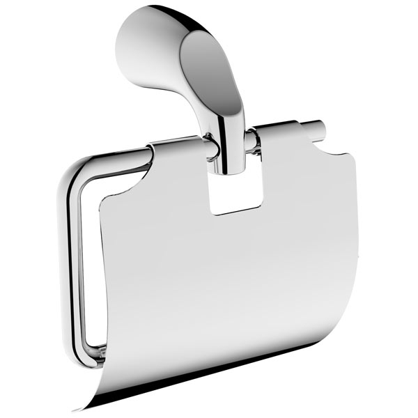 Держатель для туалетной бумаги Rush Devon DE75111 с крышкой Хром