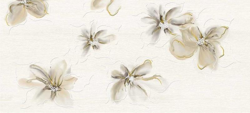 Керамический декор Cersanit Illusion светло-бежевый IL2G302 20х44 см керамический декор cersanit atria вставка бежевая an2g011 20х44 см