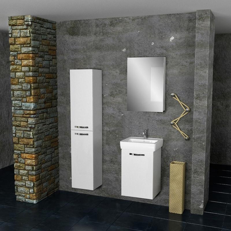 Eco Almi 50 подвесная Белый лакМебель для ванной<br>Тумба под раковину Dreja Eco Almi 50 99.0501 подвесная.<br>Превосходно сочетается с интерьером ванной комнаты в современном стиле. Отличается лаконичным дизайном, белой глянцевой поверхностью и несложным монтажом. Может использоваться в условиях повышенной влажности.<br>Габариты корпуса тумбы: 44,6 х 620 х 35,8 см.<br>Материал фасада: влагостойкая МДФ.<br>Материал корпуса: влагостойкая ЛДСП.<br>Защитное покрытие: глянцевая эмаль.<br>Фурнитура: механизмы Hettich (Германия) для плавного и бесшумного закрытия.<br>Подвесная установка с креплением на стену.<br>Комплектация: 1 дверца, крепления.<br>