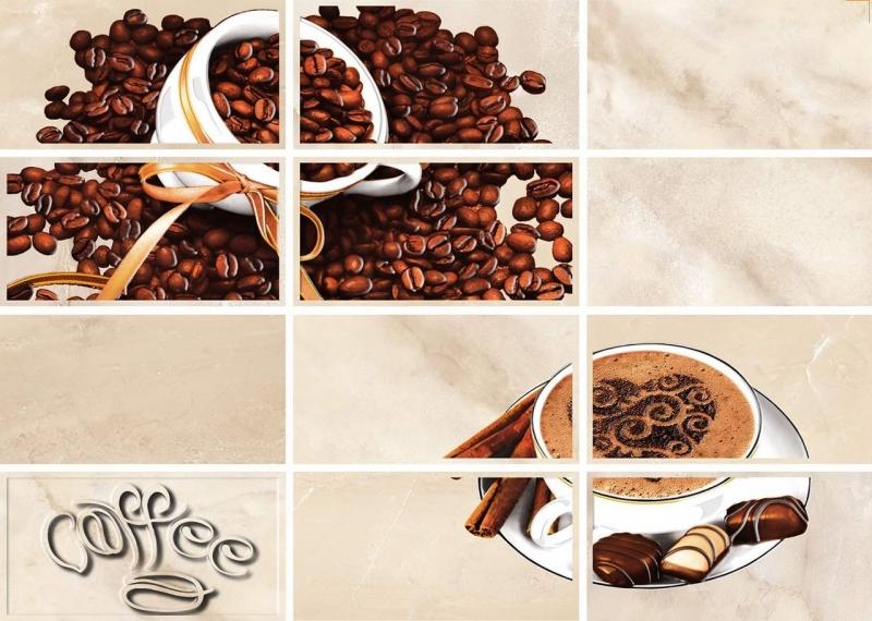 Latte светло-бежевый Coffe 2 LT2M302 25х35 смКерамическая плитка<br>Керамический декор Cersanit Latte светло-бежевый Coffe 2 LT2M302 25х35 см глянцевый  украшен рисунком с изображением кофе, Сделает неповторимой общую атмосферу в помещении, принесет в нее нотки свежести и современности, преобразит и насытит модным настроением и богатством идей. В упаковке 15 штук. Вес упаковки составляет 21,0 кг.<br>