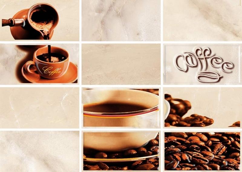 цена на Керамический декор Cersanit Latte светло-бежевый Coffe 1 LT2M301 25х35 см