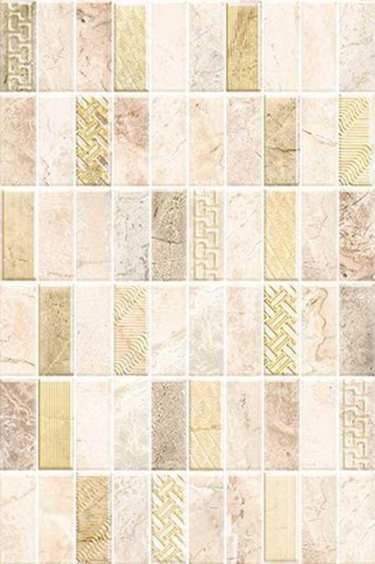 Majestic MJ2N151DT 30х45 смКерамическая плитка<br>Керамический декор Cersanit Majestic MJ2N151DT 30х45 см глянцевый воспроизводит мозаичную раскладку из разнофактурных элементов напоминающий обои, будет актуален в любом контексте: классическом или современном. В упаковке 8 штук. Вес упаковки составляет 17,52 кг.<br>
