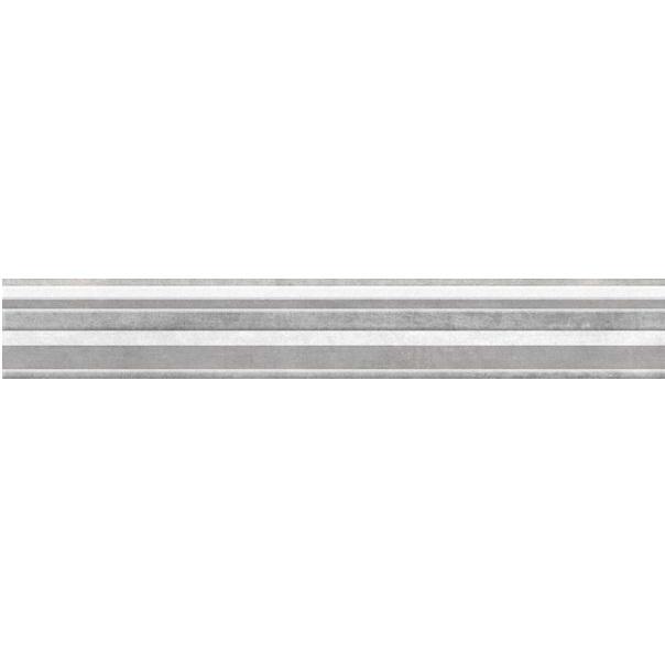 Керамический бордюр Cersanit Navi серый NV1J091 5х44 см