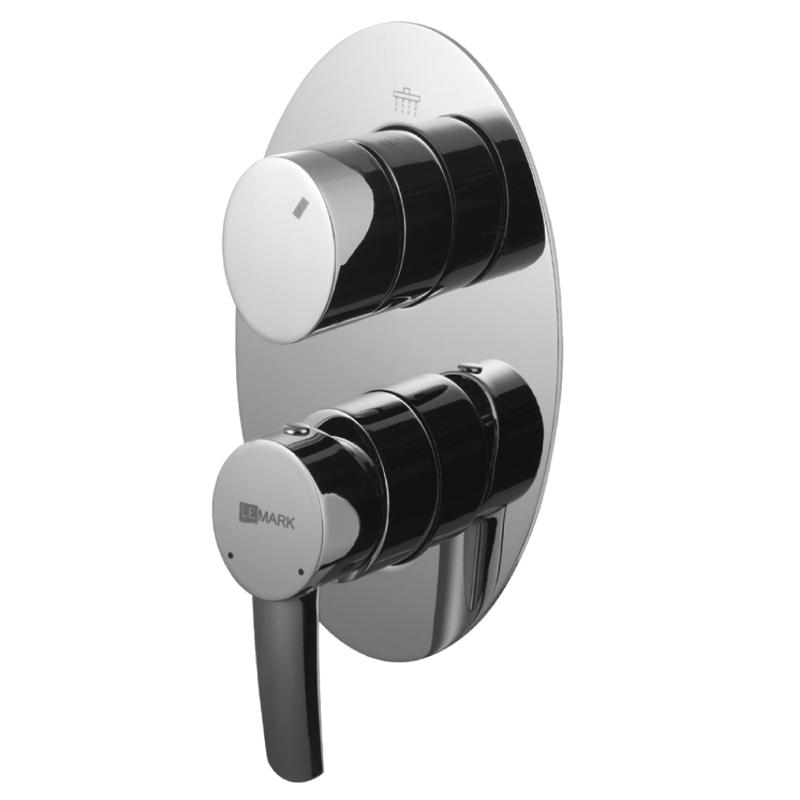 Смеситель для ванны и душа Lemark Atlantiss LM3228C Хром смеситель для ванны lemark atlantiss lm3228c