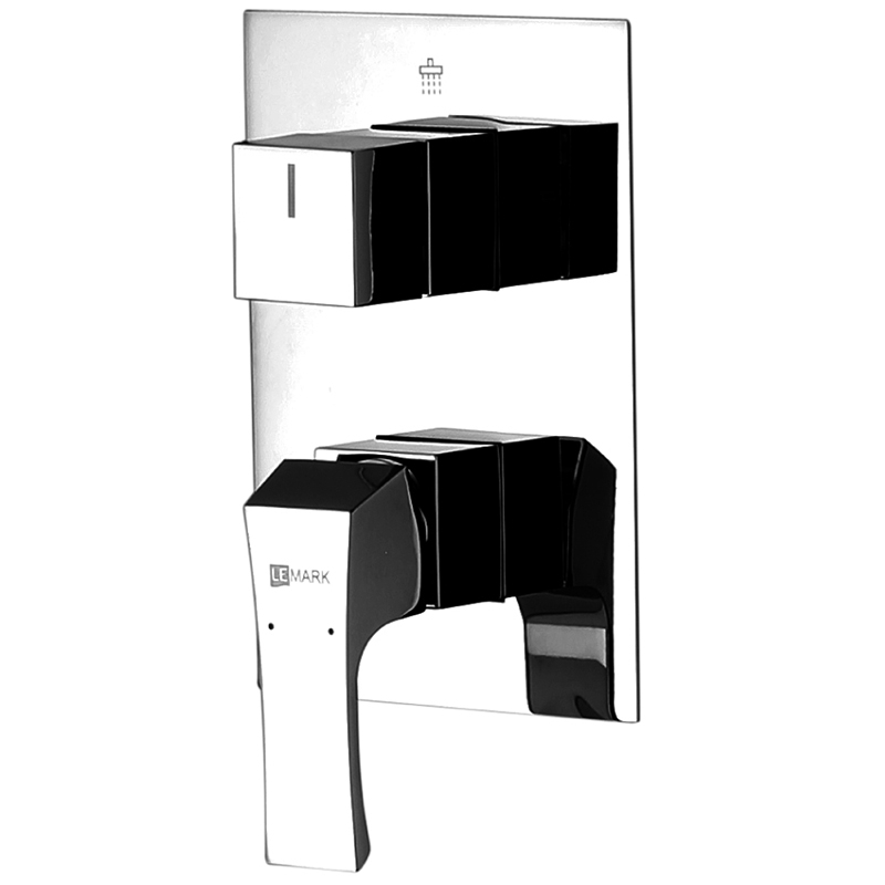Смеситель для душа Lemark Unit LM4527C Хром смеситель для ванны с подключением душа lemark unit lm4527c однорычажный встраиваемый