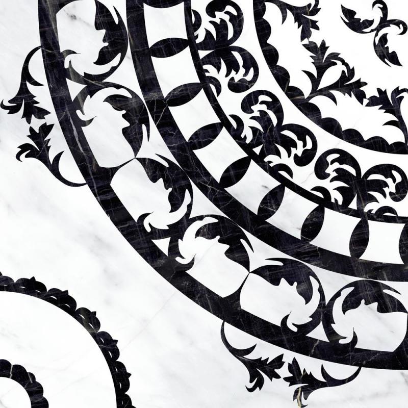 Керамическая вставка Cersanit Oriental черно-белая OE6R442DT 42х42 см цена и фото