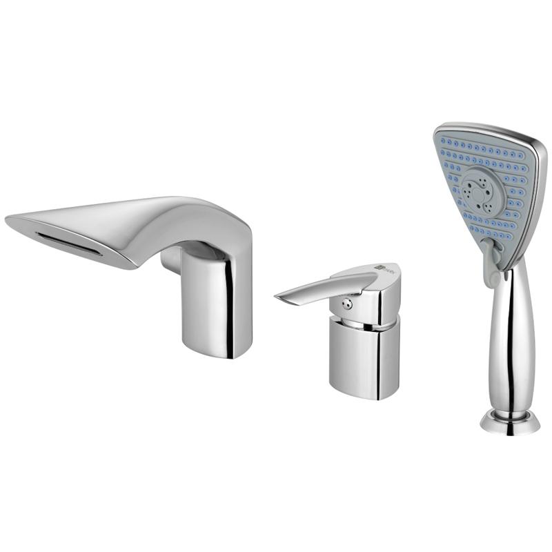 Mars LM3545C ХромСмесители<br>Смеситель на борт ванны Lemark Mars LM3545C с фиксированным каскадным изливом, цвет Хром. Гармонично впишется в любой интерьер ванной комнаты  в современном стиле своим стильным и эргономичным дизайном.<br>Покрытие: хром.<br>Материал: качественная латунь.<br>Излив: каскадный.<br>Эко-картридж 35 мм.<br>Переключатель с керамическими пластинами.<br>3-функциональная лейка 9,1 x 10,6 см со свинцовым отвесом и шлангом длиной 2 м.<br>Металлическая рукоятка.<br>Стандарт подводки: G 1/2.<br>Требует ухода без использования абразивных чистящих средств.<br>В комплекте поставки: смеситель.<br>