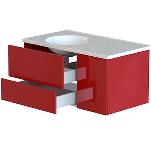 Лофт 90 2 ящика высокий глянец цветнаяМебель для ванной<br>Тумба под раковину Astra Form Лофт 90 высокий глянец с 2 ящиками в ванную комнату.<br>Корпус тумбы изготовлен из ламинированного влагостойкого ДСП, фасад - из МДФ. Поверхность изделия создана красочным покрытием в 3 слоя и 5 слоями лака (производство лакокрасочных материалов - Италия). Благодаря этому мебель служит долго в условиях повышенной влажности.<br><br>Габариты корпуса тумбы: 89 х 47,5 х 42,8 см.<br>Дверца и ящики тумбы оснащены системой доводчиков для бесшумного и плавного закрывания.<br>Цвет из палитры Ral и Ncs.<br>Поверхность: высокий глянец (лаковая, глянцевая).<br><br>Данная модель мебели для ванной органично смотрится в интерьере, созданном в стиле лофт, минимализм и другой современной стилистике.<br>Объем поставки: тумба.<br>