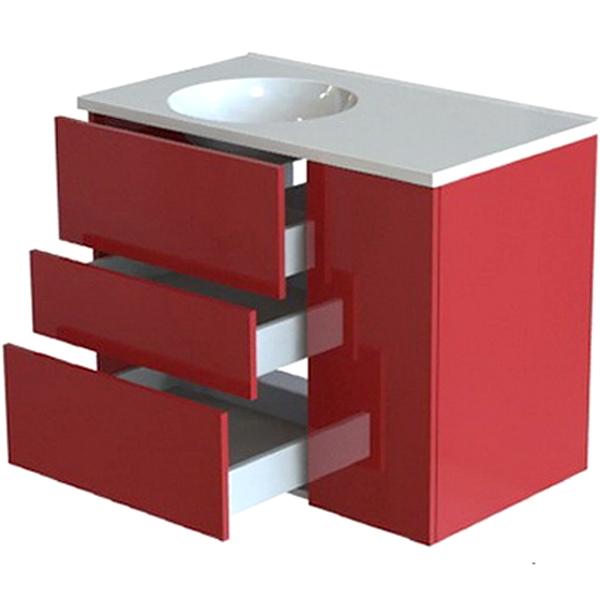 Лофт 90 3 ящика Белая Soft TouchМебель для ванной<br>Тумба под раковину Astra Form Лофт 90 Белая Soft Touch с 3 ящиками в ванную комнату.<br>Корпус тумбы изготовлен из ламинированного влагостойкого ДСП, фасад - из МДФ. Поверхность изделия создана красочным покрытием в 3 слоя и 5 слоями матового лака (производство лакокрасочных материалов - Италия). Благодаря этому мебель служит долго в условиях повышенной влажности.<br><br>Габариты корпуса тумбы: 89 х 47,5 х 68,2 см.<br>Дверца и ящики тумбы оснащены системой доводчиков для бесшумного и плавного закрывания.<br>Цвет: Белый.<br>Поверхность: Soft Touch (матовая).<br><br>Данная модель мебели для ванной органично смотрится в интерьере, созданном в стиле лофт, минимализм и другой современной стилистике.<br>Объем поставки: тумба.<br>