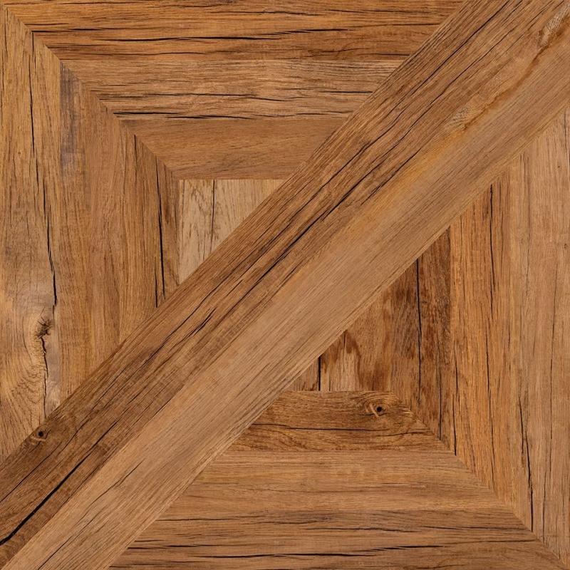 Remo коричневый C-RA4R112D 42х42 смКерамогранит<br>Керамогранит Cersanit Remo коричневый C-RA4R112D 42х42 см матовый выполнен в виде наборного паркета из состаренной древесины. Присмотревшись можно увидеть глубокие трещины рассохшихся планок, различить структуру нескольких пород древесины. При этом поверхность модулей остается гладкой. Полностью рисунок керамического паркета виден, когда вместе складываются четыре плиты. В упаковке 8 штук общей площадью 1,41 м2. Вес упаковки составляет 28,0 кг.<br>