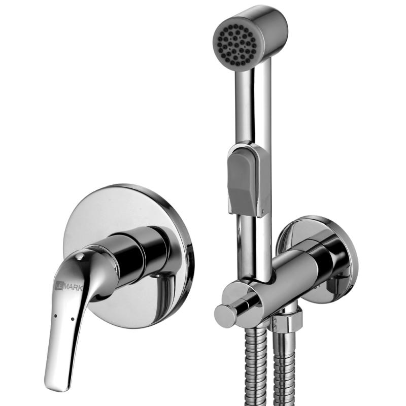 Plus Advance LM1219C ХромГигиенические души<br>Гигиенический душ со смесителем Lemark Plus Advance LM1219C, цвет Хром. Гармонично впишется в любой интерьер ванной комнаты в современном стиле своим стильным дизайном.<br>Покрытие: хром.<br>Материал: качественная латунь.<br>Керамический картридж 25 мм.<br>Подключение для шланга с креплением для лейки.<br>Лейка для биде с нажимным механизмом и шлангом длиной 1,5 м.<br>Металлическая рукоятка.<br>Стандарт подводки: G 1/2.<br>Требует ухода без использования абразивных чистящих средств.<br>В комплекте поставки: смеситель, гигиенический душ.<br>