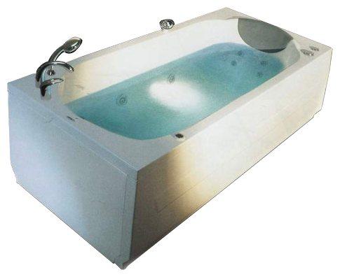 """Corsica 190 Система 2: ГидромассажВанны<br>Victory Spa Corsica 190 NVS.230.910.02.1 акриловая ванна белого цвета. Стандартная комплектация: электронная система управления; ЖК-дисплей; программа полуавтоматической дезинфекции; подводная светодиодная подсветка; таймер с установкой желаемого времени принятия процедур; часы; датчик температуры воды; датчик уровня воды, подголовник. Гидромассаж: ротативные форсунки для спины;ротативные форсунки для массажа ступней ног; боковые форсунки с возможностью изменения направления струи; возможность полного закрытия боковых форсунок; независимая регулировка подачи воздуха в гидромассажные форсунки; датчик защиты от запуска без воды; дренаж гидромассажной системы после принятия ванны. Дополнительно можно приобрести хромотерапию (подводная цветовая подсветка); проточный водонагреватель, поддерживающий температуру воды, с защитой от """"сухого пуска""""; отдельный регулятор воздуха гидромассажных форсунок спины; импульсный режим гидромассажа (H-MODE); радиo FM / MP3 плеер; пульт дистанционного управления; ароматерапию; озонатор; фронтальную панель; комплект панелей, левый/правый; панель для облицовки плиткой; слив-перелив с наполнением.<br>"""