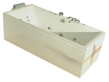 """Thira 158 Система 2: ГидромассажВанны<br>Victory Spa Thira 158 NVS.880.910.02.1 акриловая ванна белого цвета. Стандартная комплектация: электронная система управления; ЖК-дисплей; программа полуавтоматической дезинфекции; подводная светодиодная подсветка; таймер с установкой желаемого времени принятия процедур; часы; датчик температуры воды; датчик уровня воды, стальной подголовник с подушкой (или подголовник из тика с подушкой). Гидромассаж: ротативные форсунки для спины;ротативные форсунки для массажа ступней ног; боковые форсунки с возможностью изменения направления струи; возможность полного закрытия боковых форсунок; независимая регулировка подачи воздуха в гидромассажные форсунки; датчик защиты от запуска без воды; дренаж гидромассажной системы после принятия ванны. Дополнительно можно приобрести хромотерапию (подводная цветовая подсветка); проточный водонагреватель, поддерживающий температуру воды, с защитой от """"сухого пуска""""; отдельный регулятор воздуха гидромассажных форсунок спины; импульсный режим гидромассажа (H-MODE); радиo FM / MP3 плеер; пульт дистанционного управления; ароматерапию; озонатор; фронтальную панель; комплект панелей, левый/правый; панель для облицовки плиткой; слив-перелив с наполнением.<br>"""